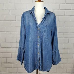 CLOTH & STONE Chambray Button Down Shirt  A10-8